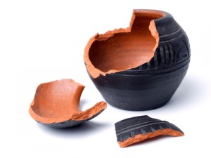 broken old pottery