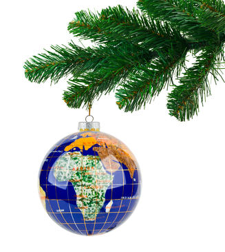 world holiday ornament