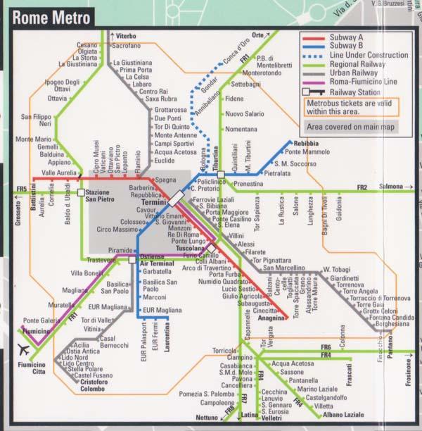 Rome italy subway