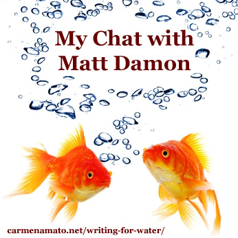 The Water Diaries: My Chat With Matt Damon