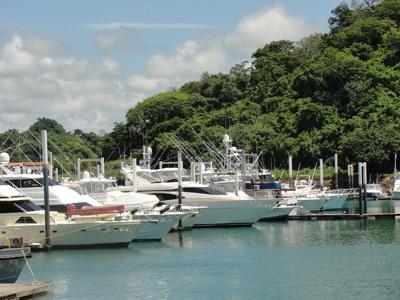 Panama City marina in sunshine