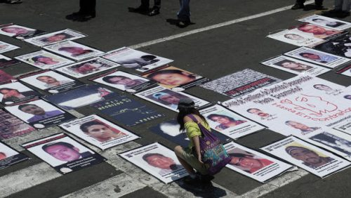 If you were missing: Posters of the missing. Picture courtesy of CBS news.