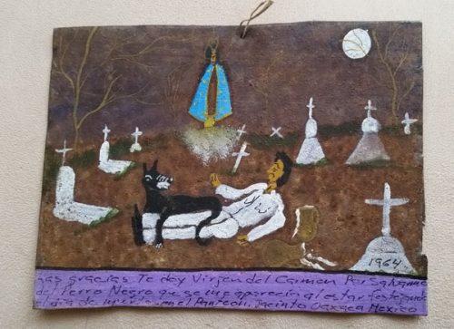 religious retablo inspires a mystey series