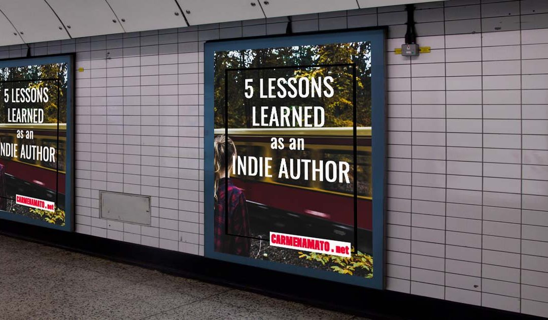 Indie Author's 5 Lessons blog post