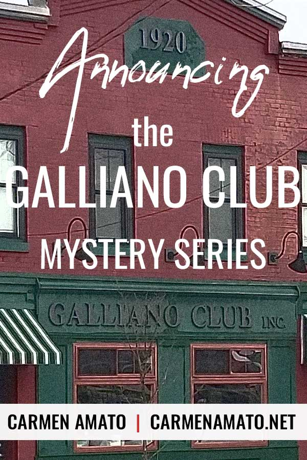 Galliano Club mystery series announcement