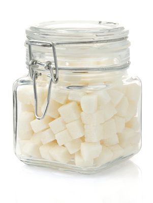jar of sugar cubes