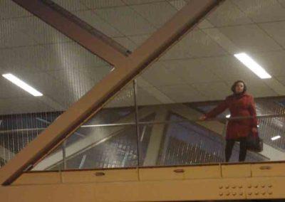 Carmen on pedestrian bridge