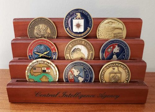 Mystery author's CIA challenge coins