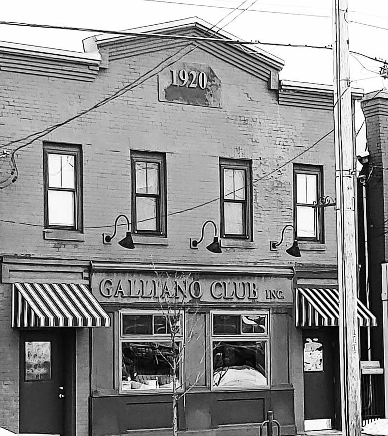 The original Galliano Club still stands today